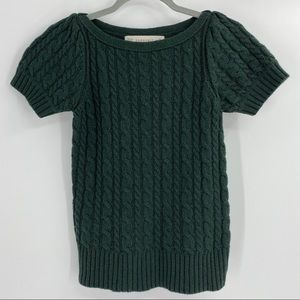 Zara Knit Hunter Green Knit Top Size S